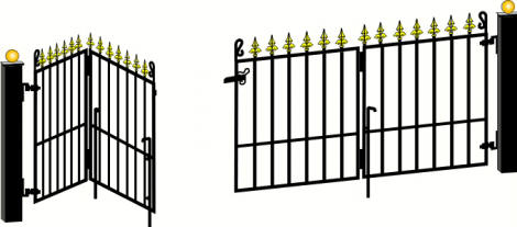 Folding Gates Illustration